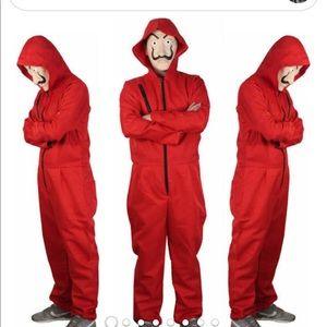 Salvador Papel Money Heist Costume Jumpsuit & Mask